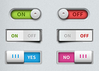 Toggle switches UI elements